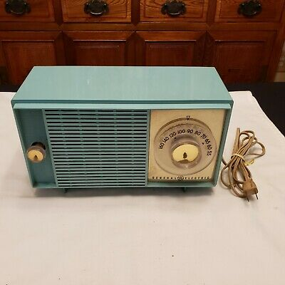 1950s Vintage RETRO GENERAL ELECTRIC RADIO T129C TURQUOISE ~ RARE COLOR ~ WORKS!
