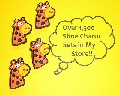 Giraffe x4  Shoe Charms Shoe Buttons Plugs Decoration Cake Toppers  auction