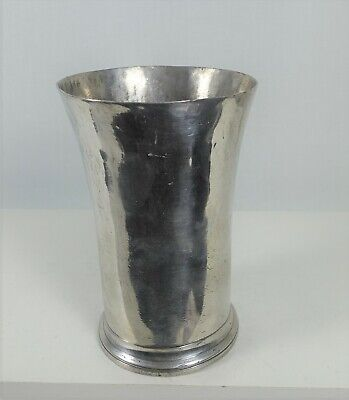 VERY LARGE PEWTER GOBLET.  Marked F van ENGELEN . BOIS-le-DUC; HERTOGENBOSCH