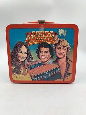 Vintage Dukes of Hazzard Metal Lunch Box 1980 Coy & Vance