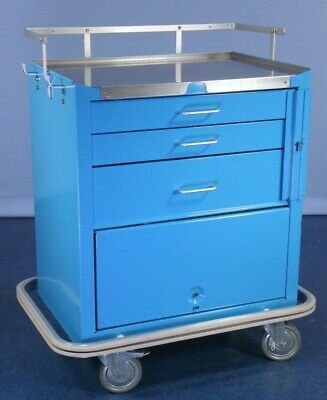 Medical Crash Cart Medical Supply Cart with Stainless Top!