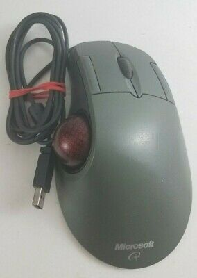 Original Microsoft 1.0 Optical Trackball X08-70386 Wired Mouse Tested & Working
