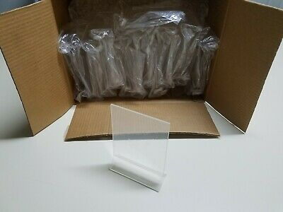 """4"""" x 6"""" Lot Of 24 Sign Holders Ad Menu Frame Table Tent Clear Acrylic"""