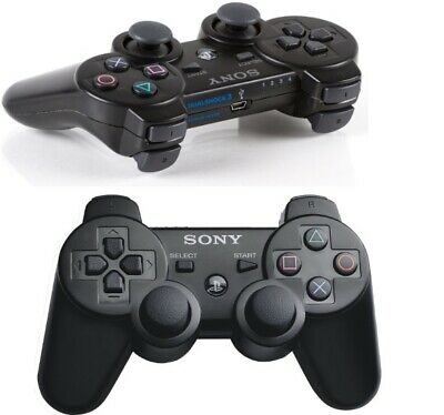 Sony PlayStation Dualshock 3 Six-Axis Wireless Bluetooth Controller - Black PS3