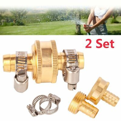 """3//4/"""" Threaded Tap Adapter Garden Water Hose1//2/"""" Male Tool Connector Quick F4P9"""