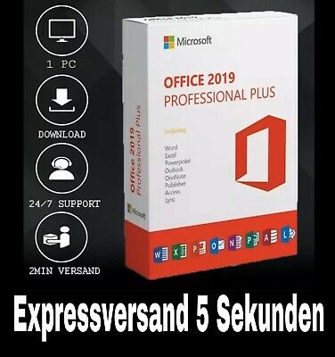 Microsoft Office 2019 Professional Plus Mail Versand 5 Sekunden 24/7 Vollversion