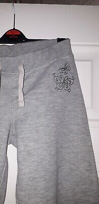 Young girls grey joggers with butterfly detail