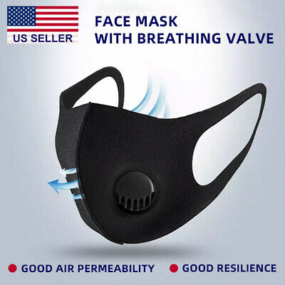 Face mask Face Shield Washable Reuse with Air Filter Breath Valve Poly Sponge