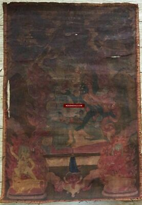 1111 Antique Buddhist Thangka Painting Art - 18th century, Mongolia