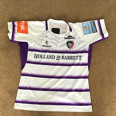 Leicester Tigers Match Worn and Washed Away Shirt - 4XL