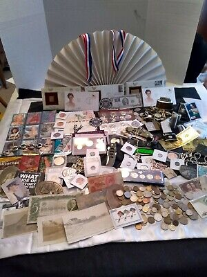 Junk drawer lot Gold US Silver Coins Zippo Knives Watches