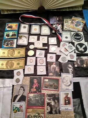Junk drawer lot 90% US silver coins, stamps, Pepsi, Elvis, Slabbed Coins & MORE