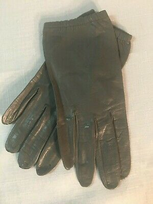 VINTAGE -TWO PAIR handmade Italian Leather Gloves/PERFECT for these virus times!