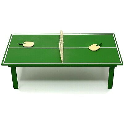 Dollhouse Miniature PING PONG TABLE TENNIS  w/ Paddles Signed BILL & LEONA