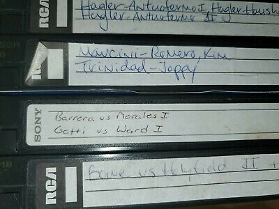 Used  vhs tapes sold as blanks  sports boxing  1990s