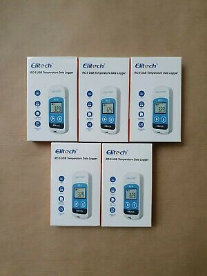 5 x Elitech RC-5 USB Temperature Data Logger.