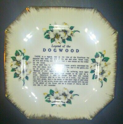 Vintage Dogwood Ceramic Collecters Plate 7 Inch