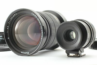 FedEx✈[Mint] Mamiya N 150mm f/4.5 L MF Lens For 7 7II w/ Finder from JAPAN