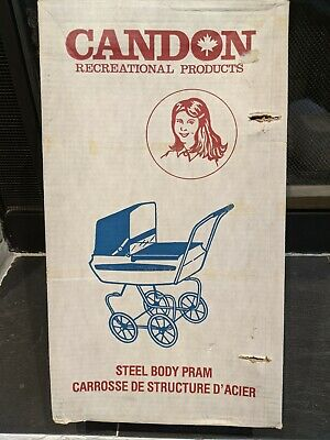 Vintage Doll Pram - Bright Blue