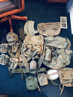 Huge !Us Army Original Ww2 / Korea / Vietnam Field Gear Lot