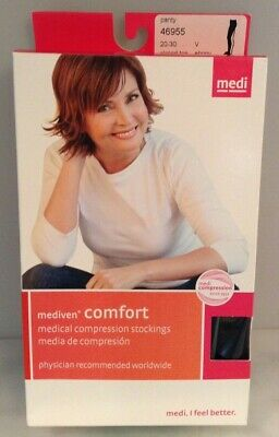 Mediven Comfort 20-30 mmHg PantyHose Compression Stockings, Closed Toe Ebony SzV