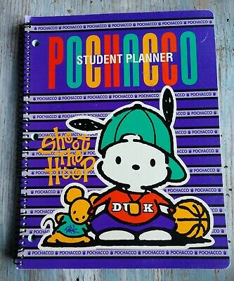 VINTAGE 1996 Germany SANRIO POCHACCO student planner school supplies