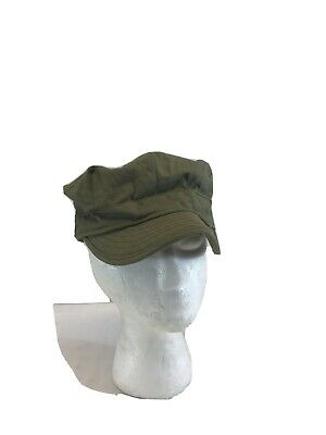 WW2 US Army Military HBT Field Uniform Fatigue Hat Cap Short Bill 7 1/2