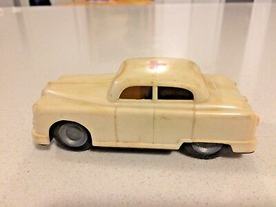 Hungary Hungarian Vintage Lemez Red Cross Friction Car Toy Foreign Plastic