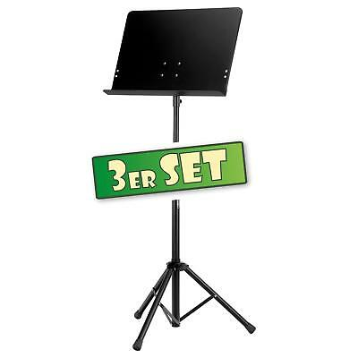 3x Music Stand Heavy Duty Large Adjustable Orchestral Sheet Metal Super Stable