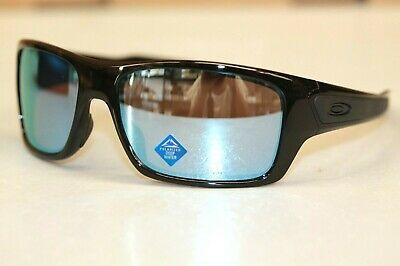 Oakley Turbine POLARIZED Sunglasses OO9263-1463 Black Frame W/ PRIZM Deep Water