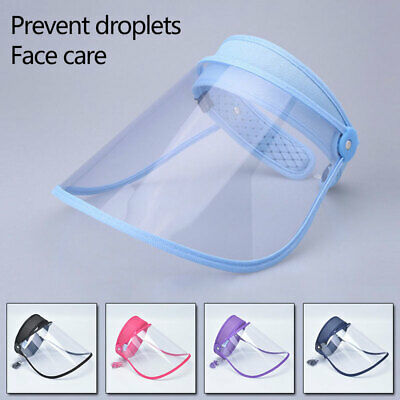 Safety Splash-proof Anti-fog Mask Shield Cap Full Face Protective Clear Sun Hats