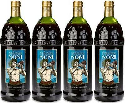 The Original Authentic TAHITIAN NONI Juice by Morinda (4PK Case), 1 liter bottle