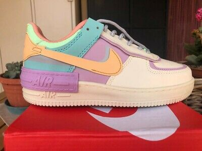 NIKE AIR FORCE 1 Shadow Pastel Pale Ivory UK6.5 EUR 199,73