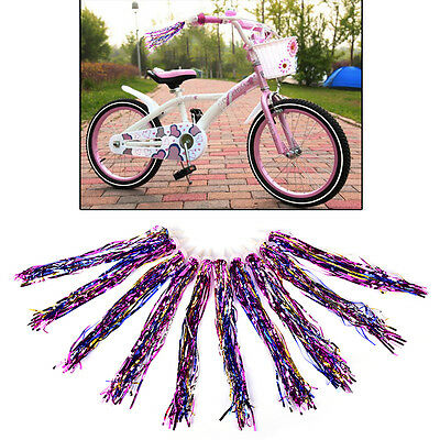 2pcs Handlebar Streamers Tassels For Kids Bicycle Bike Cycling Tricycle GiftP Jz