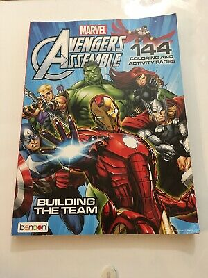 Marvel Avengers Assemble 144 Coloring /& Activity Pages Building the Team Bendon