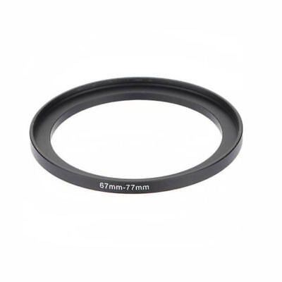 Black 67mm To 77mm 67mm-77mm 67 to 77 Metal Step Up Lens Filter Ring Adapter