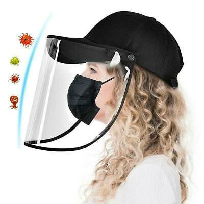 Anti Saliva Baseball Cap + Face Shield Protection Cover Hat