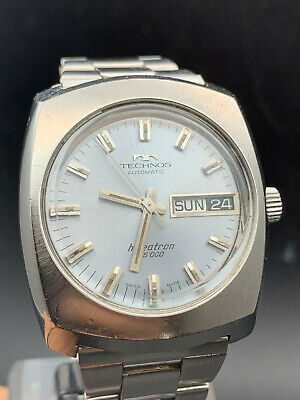 VINTAGE TECHNOS HIBEATRON 36000 Automatic As 1920 1970 cassa bracciale acciaio - EUR 99,00 | PicClick IT