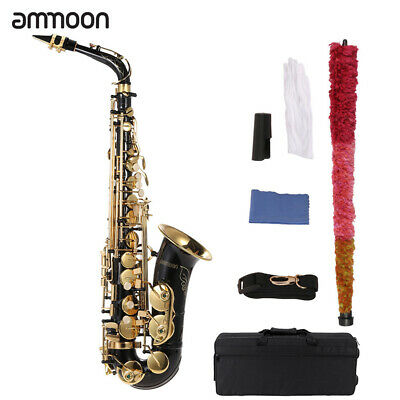 ammoon Eb Alto Saxophone Brass Lacquered Gold E Flat Sax 82Z Key with Case