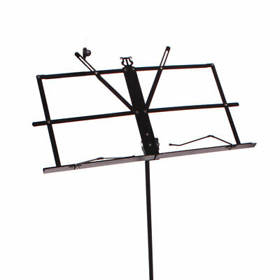 Glarry Handy Portable Adjustable Folding Sheet Music Stand with Carry Bag Black