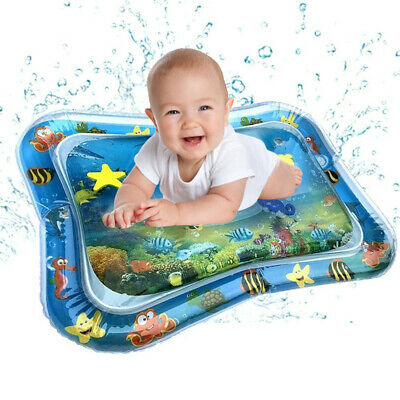 Inflatable Baby Water Mat Novelty Play Game Pad for Kids Infants Tummy Time USA