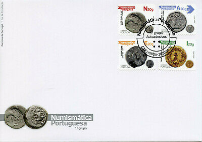 Portugal Coins on Stamps 2020 FDC Numismatics Part I Archaeology 4v S/A Set