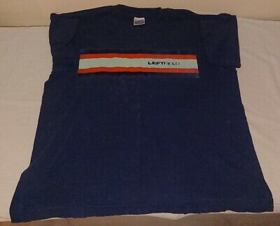 "Leftfield Original Official Screen Stars T-Shirt - XL 24"" P2P - Rare - NAVY"