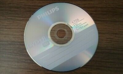 1 single 16x DVD+R 4.7GB Blank Recordable Disk Philips