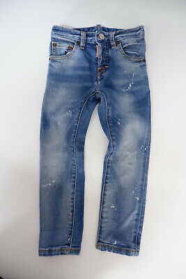 Dsquared2 Skinny Jeans Age 4 Years Boys  Ds2 Stretch Distressed Look Gc