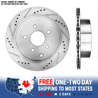 REAR DRILLED /& SLOTTED PLATED BRAKE Rotors For Infiniti FX35 FX45 Murano Quest