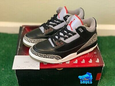 Nike Air Jordan 3 Retro Og Cdp Black Cement 2008 Size 9 5 With Box