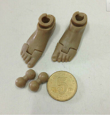 1 Pair 1:6 Scale Male Plastic Bare Feet for 12inch Action Figure Body