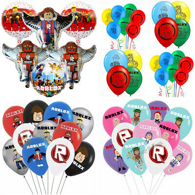 """ROBLOX  12'' Latex 18"""" foil Party Birthday Balloons Decoration."""
