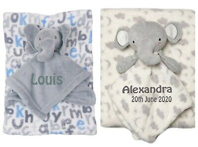 PERSONALISED Baby Blanket and Toy Ideal Baby Shower Gift Luxury Gift